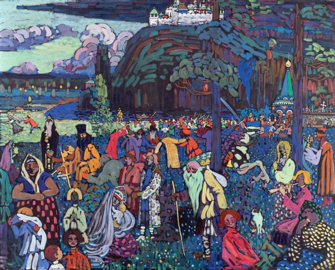W. Kandinsky - Colorful-life- tempera su tela - 1907