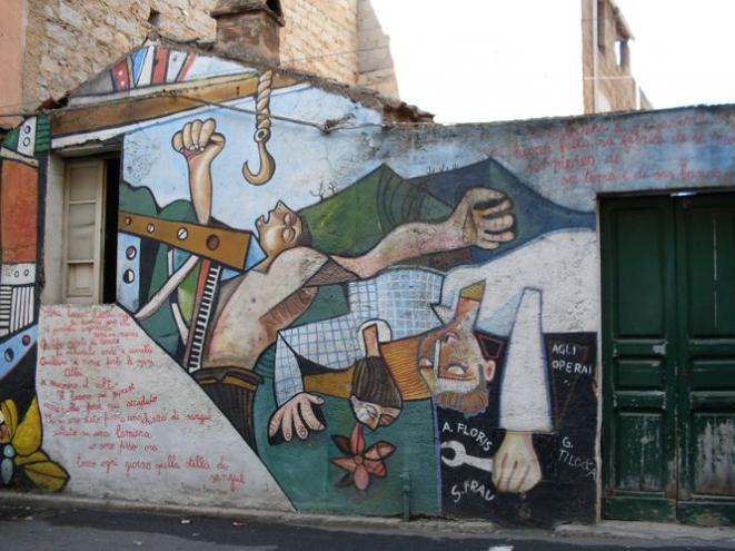 Murale agli operai - Foto di M. Cuccu