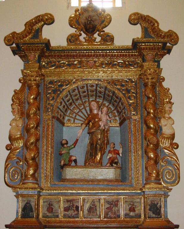 Sardara, retablo della Madonna d'Itria - www.sardegnadigitallibrary.it