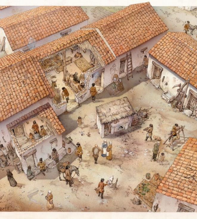 Geridu, ricostruzione del villaggio